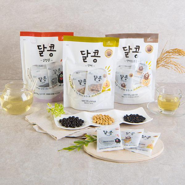 [창고대방출] 순수100%국산콩 로스팅 달콩스낵 25g*6입 (1+1+무료배송) 세가지맛 선택 이미지